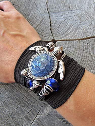 HANO Sea Turtle Bracelet for Women, Turtle Lovers Wrap Bracelet, Beach Bracelet for Women