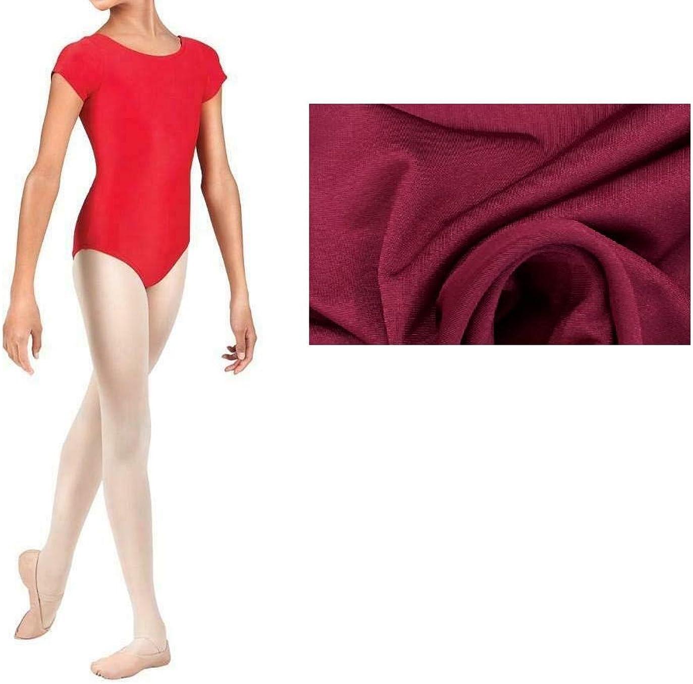 BODYWEAR LTD Kids Girls Shiny Lycra Short Sleeve Dance Gymnastics Leotard