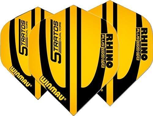 Winmau Darts Sport Rhino Plus 150 Standard Flights 10-Piece Pack - Gelb Stratos, One Size