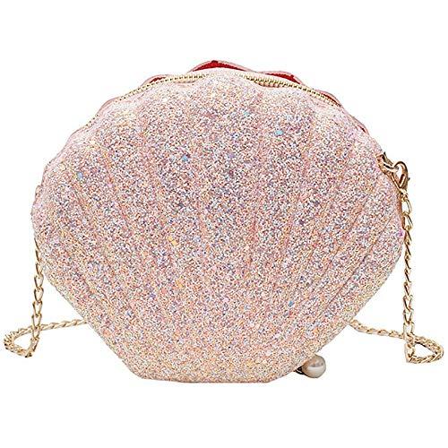 Lopbinte Bolsos cruzados para mujer y niña, con lentejuelas, color rosa, color Rosa, talla Talla Unica