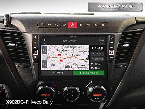 Alpine X902DC-F Touchscreen Navigator, festinstalliert, 9 Zoll LCD Scwarz –Navi (Ost- und Westeuropa) 22.9cm (9 Zoll), 800x 480Pixel, LCD, MP4