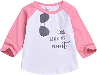 Baby Toddler Boys Girls Sweatshirts Pullover Top Clothes 1-5 Years Old Kids Long Sleeve Sunglasses Letter T-Shirt