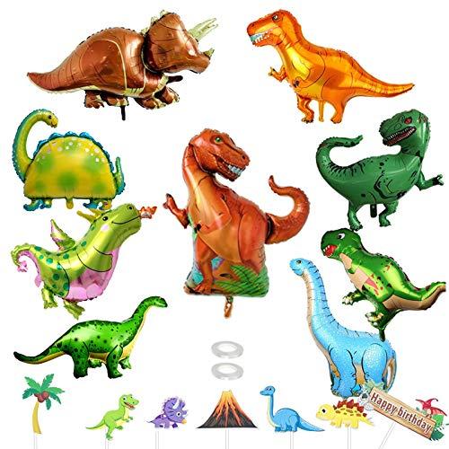 BOYATONG 9 Stücke Folien Dinosaurier Luftballons, Dinosaurier folienballon, Dino Luftballons Party, folienballon Kinder Gross für Geburtstag Geschenk, Jurassic Welt Dinosaurier Jungle Stil Party
