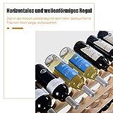 COSTWAY Weinregal Holz, Weinständer für 72 Flaschen, Flaschenregal 6 Höhe zur Auswahl, Holzregal stabil, Weinschrank Flaschenständer - 4