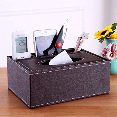 Tissue box,Tissues cube box,Paper towel dispense,Paper towel box,Creative Leather Tissue Box Multi-purpose Home Living Room Desktop Remote Control Storage Box Paper Napkin Box Customizable Logo,4,Colo
