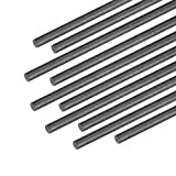 uxcell Carbon Fiber Rod for RC Airplane DIY Craft 2mm Matte Pole 400mm 15.7 Inch, 10pcs