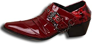 Rui Landed Oxford for Men Formal Shoes Slip On Style Premium Genuine Leather Patent Leather Monk Strap Metaldecor Pointed ...