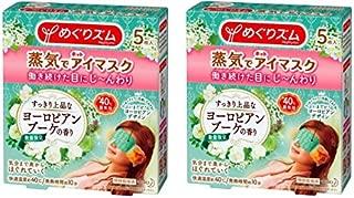 【まとめ買い】 めぐりズム 蒸気でホットアイマスク ヨーロピアンブーケの香り 5枚入×2個