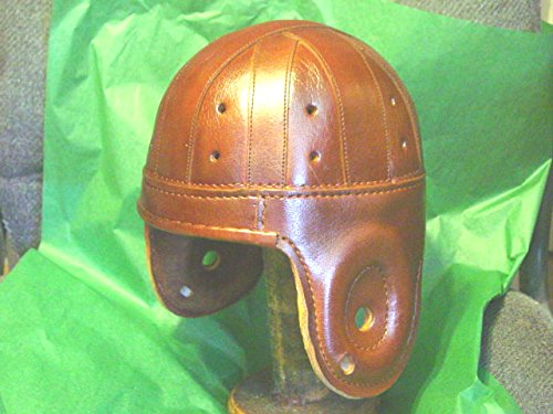 Past Time Sports Antique Style Rust Leather Football Helmet
