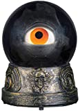 Animated Crystal Ball with Floating Eyeball, Motion Activated Creepy Blinking and Talking, 7 1/2 Inch