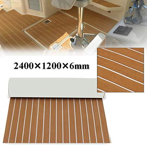 Inflatelines Láminas de Pisos de Teca de imitación de EVA para Yates de Barcos, alfombras Marinas Antideslizantes - Plataforma autoadhesiva para Pisos de Barcos 240×115×6 cm