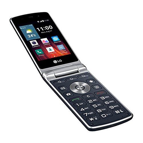 LG H410 Wine Smartphone Flip, 4 GB, Android 5.1.1, Quad-Core,, Marchio TIM, Blu Nero [Italia]