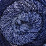 ggh Joker | Schurwolle Mischung | 50g Wolle zum Stricken oder Häkeln | Dicke Wolle mit Farbverlauf | Farbe 022 - Marine-Jeans-Blau meliert