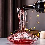 ADMY Wein Dekanter, 1.8L Weinkaraffe Set aus Kristallglas, Rotwein Bleifreies Glasdekanter, Dekantiergefäß Glasbelüftungsweinkaraffe Decanter, Dekantierflasche Geschenk für Weihnachten Weinliebhaber - 9