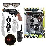 Toi-Toys 14145A Polizei-Set incl. Batterie Polizeipistole Spielzeugwaffe Kinderpistole Jungen...