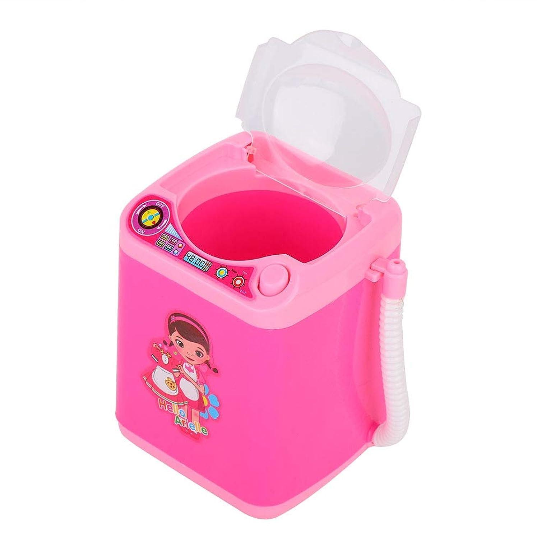 ストレンジャー松の木モックメイクブラシクリーナー 洗濯機形 電動メークブラシクリーナー 化粧ブラシ適用 自動 乾電池式 二色(01)