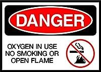 使用中酸素、禁煙またはオープンフレーム危険なしOSHA/ANSIアルミニウムメタルサイン 10 in x 7 in MSIGNDANGM093_HR_10_7