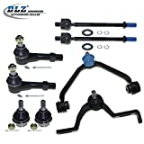 DLZ 8 Front Suspension Kit-Upper Control Arm Lower Ball Joint Outer Inner Tie Rod End Compatible with Ford Ranger 1998-2011, Ford Explorer 1998-2001, Mazda B2500 1999-2001, Mazda B3000 1998-2001 EV317