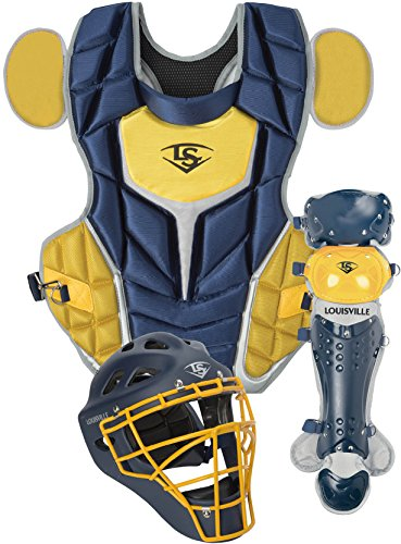 Louisville Slugger Series 5 Intermediate Catcher's Gear Navy/Vegas Gold