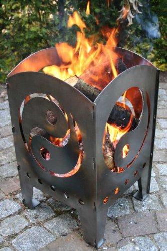 SvenskaV Feuersaeule Yin Yang aus Stahl...