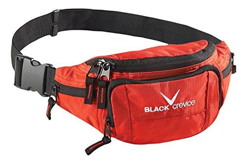 Black Crevice Riñonera, Color Rojo, tamaño Talla única, Volumen Liters 2.0