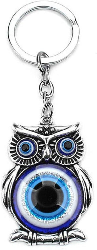 Blue Daily bargain sale Evil Eye San Francisco Mall Owl Lucky Charm Protection Hanger Tassel Crystals