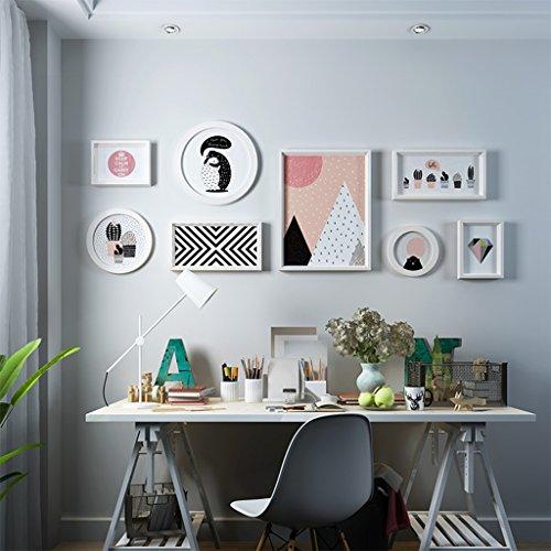 QARYYQ Fotohanddekorationsfotorahmenwand Der Wohnzimmerwand des Wohnzimmers Fotowand Kreative Wandhängende Bilderrahmenwand Der Kreativen Kombination Moderne Wanddekoration-Fotorahmenkombination