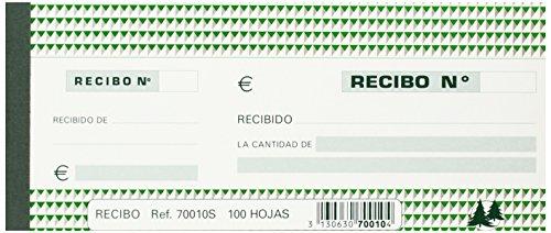 Exacompta 70010S - Recibos mediano, 100 hojas, 90 x 210
