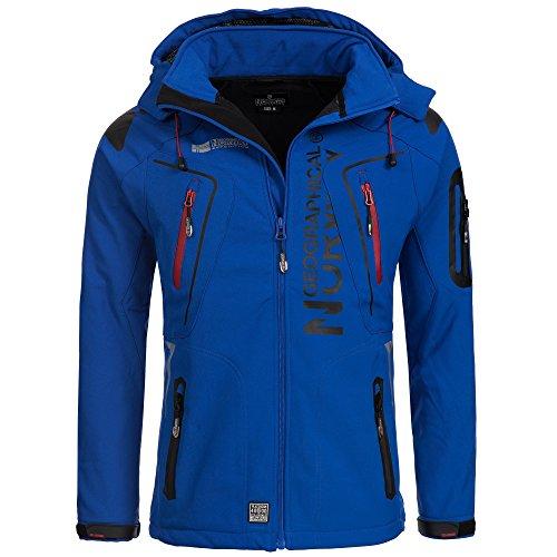 Geographical Norway TANGATA Herren Softshell Jacke Softshelljacke S-XXL, Größe:XL;Farbe:Blau