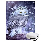 Morebee Arctic Owl Fleece Throw Blanket Soft Lightweight Blanket for Bed Couch Sofa Travelling Camping for Kids Girls Boys Adults(30'x 45')