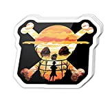 Cool Sticker (3 pcs/Pack,3x4 inch) Straw Hat Crew Pirates Skull Silhouette Anime Stickers for Water Bottles,Laptop,Phone,Teachers,Hydro Flasks,Car