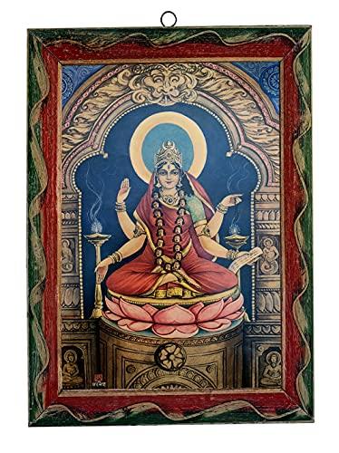 Indische Göttin Foto, Dus Mahavidya Maa Bhuvaneswari Pujan, indische Hindu-Göttin, indische Göttin, religiöses Foto, Wandfotos, 20 x 28 cm
