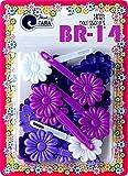 Tara Girls Self Hinge Plastic Flower Hair Barrettes 18 Pieces Selection (Purple Mix)