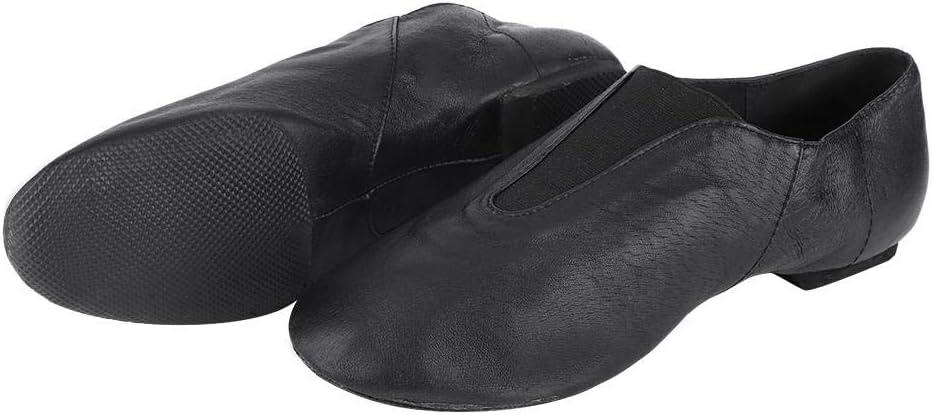 Keenso Ballet Dance Shoes, 1 Pair PU Leather Black Jazz Social Dance Shoes Adult Girls Women Dancing Shoe Gymnastics Dancing