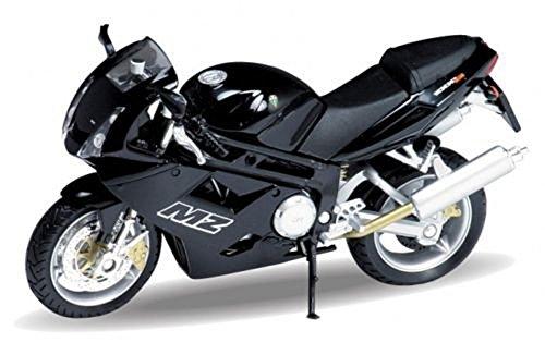 DieCast Modell Motorrad MZ 1000 S schwarz metall Welly Motorradmodell 1:18