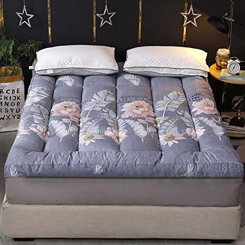 zyl Colchón de Tatami Doble Almohadilla de Dormir Plegable Gruesa y Transpirable de algodón Almohadilla de colchón de futón japonés Suave para Acampar Dormitorio Sala de Estar (Color: H Tamaño: