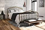 Novogratz Bushwick Metal Bed with Headboard and Footboard | Modern Design | Queen Size - Gold