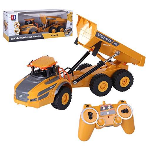 Lommer RC Kipper mit 2.4 GHz Fernsteuerung, Ferngesteuert Muldenkipper Tieflader Truck 1:26 Auto mit Fernsteuerung, Geschenk für Kinder und Erwachsene