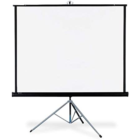 Quartet Portable Tripod Projection Screen 50 X 50 Inches High Resolution Matte Surface 550s Office Products
