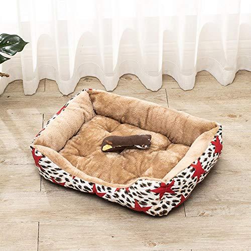 jiwenhua Pet Products Teddy Dog's Kennel Four Stagioni Cat's Kennel Dog Stunt Hot Dog Lett, Star Leopardo, 120 * 90