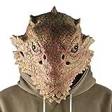 Amosfun Máscara de lagarto novedad disfraz de Halloween máscara de animales de cabeza completa...