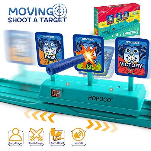 HOPOCO Mobil Zielscheibe für Nerf, Auto Reset Elektro-Schießscheiben Shooting Target, Linke und Rechte Bewegliche Elektrische Ziel, für Nerf N-Strike Elite / Mega / Rival-Serie