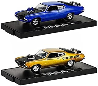 Drivers 1970 Ford Torino Cobra 2pc Set WITH CASES 1/64 by M2 Machines 12228-18F