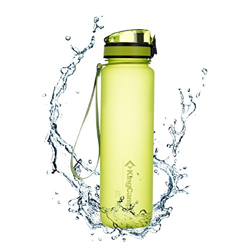 KingCamp Tritan - Botella de agua 400/500/650/1000 ml sin BPA