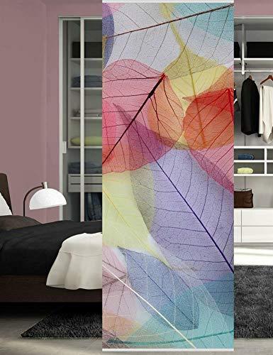HOME WOHNIDEEN Raumteiler Dekostoff Digitaldruck Colored Leaves 083463-0407 H x B 245 x 90 cm Multicolor
