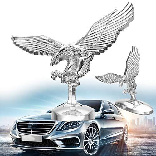 YONGYAO 3D Emblem Angel Eagle Auto Car Front Cover Chrome Hood Ornament Badge Bonnet