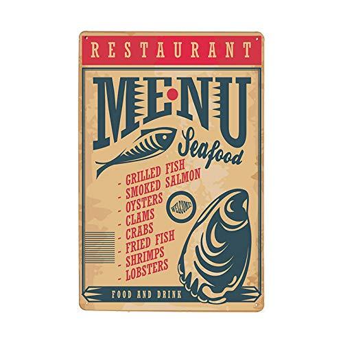 Cartel de chapa de metal Tarro de comida Placa de señal retro Placa de pared de metal Decoración de restaurante Bar Decoración de barra Pintura de hojalata 70423