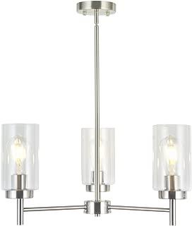 9 light chandelier brushed nickel