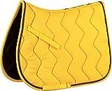 Equi-Theme/Equit'm Tapis de Selle 204610, Mixte, 204610, Yellow/Grey Braid, Taille Unique