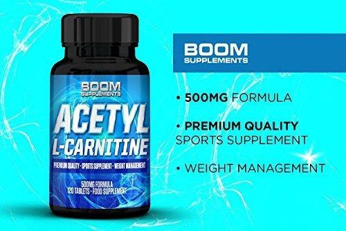 Acetil L Carnitina 500 mg   Potenti compresse con Acetil-Carnitina   Potente Nootropo   120 potenti capsule per un Boost di Energia   Fornitura COMPLETA per 4 mesi   Sicuro ed Efficace